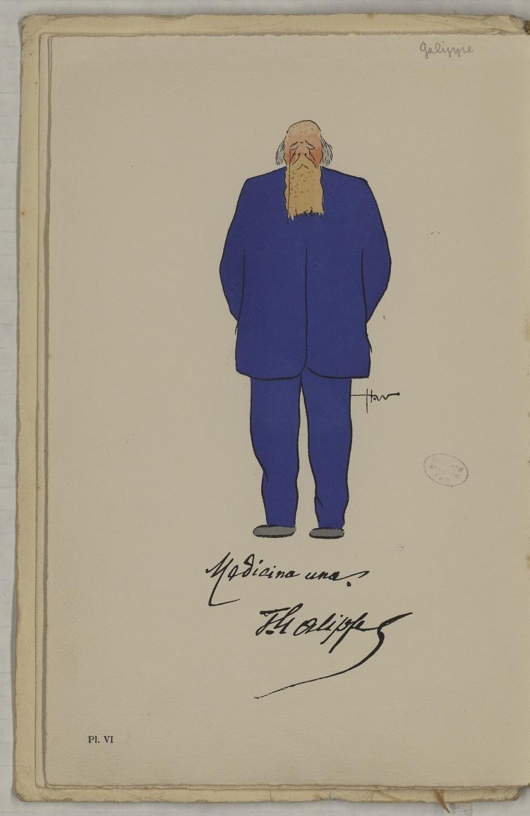 M. Galippe (V.) - L'Académie de médecine : album, 1re série - Médecins. Académie de médecine (Paris). Autographes. Caricatures. France. 20e siècle - med10947Bx01x11x0010