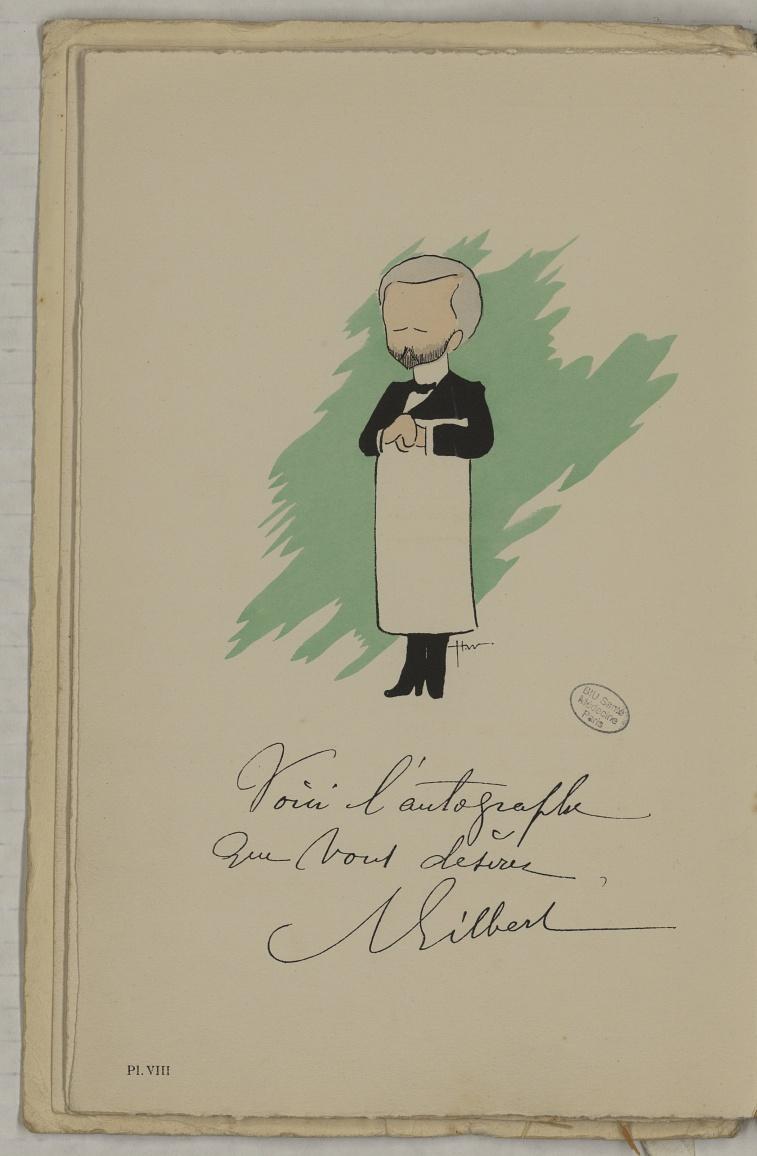 M. Gilbert (A.) - L'Académie de médecine : album, 1re série - Médecins. Académie de médecine (Paris). Autographes. Caricatures. France. 20e siècle - med10947Bx01x11x0012