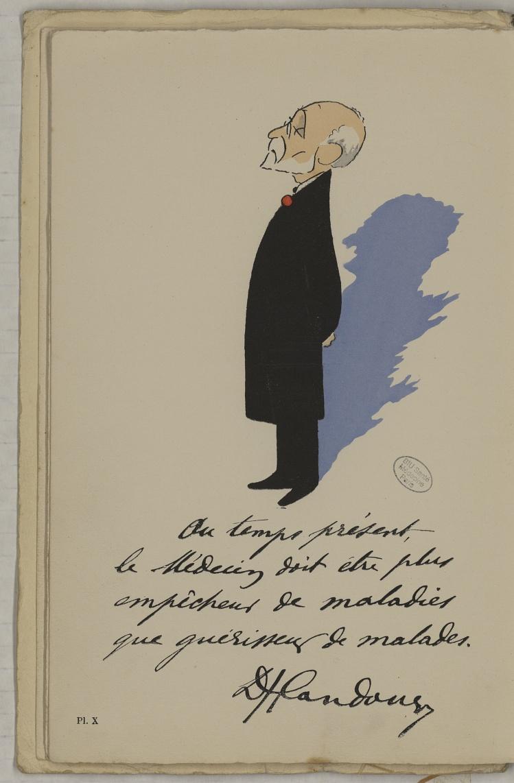 M. Landouzy - L'Académie de médecine : album, 1re série - Médecins. Académie de médecine (Paris). Autographes. Caricatures. France. 20e siècle - med10947Bx01x11x0014