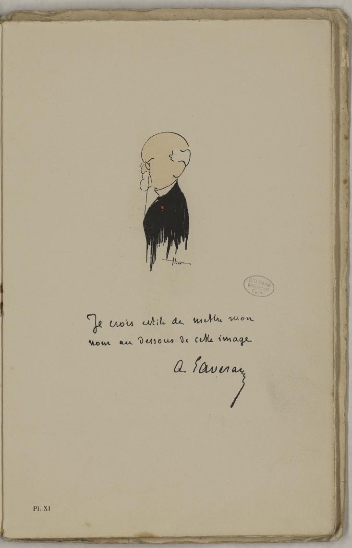 M. Laveran - L'Académie de médecine : album, 1re série - Médecins. Académie de médecine (Paris). Autographes. Caricatures. France. 20e siècle - med10947Bx01x11x0015