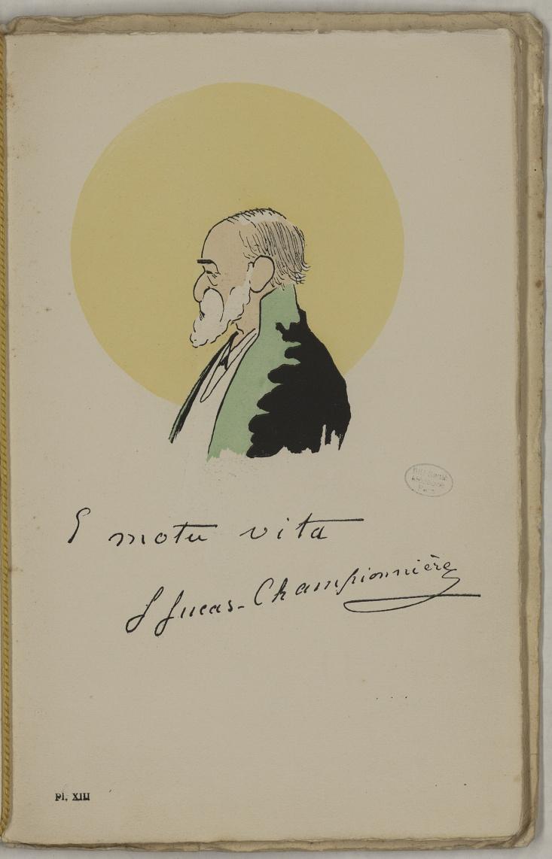 M. Lucas-Championnière - L'Académie de médecine : album, 1re série - Médecins. Académie de médecine (Paris). Autographes. Caricatures. France. 20e siècle - med10947Bx01x11x0017