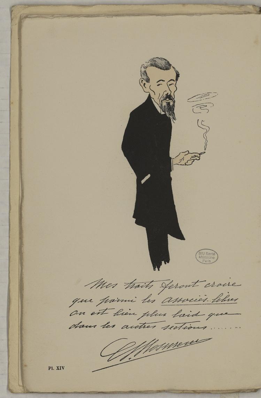 M. Mesureur - L'Académie de médecine : album, 1re série - Médecins. Académie de médecine (Paris). Autographes. Caricatures. France. 20e siècle - med10947Bx01x11x0018