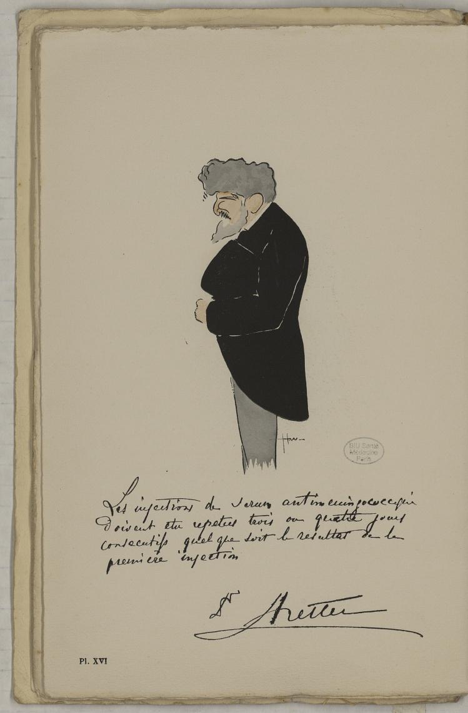 M. Netter - L'Académie de médecine : album, 1re série - Médecins. Académie de médecine (Paris). Autographes. Caricatures. France. 20e siècle - med10947Bx01x11x0020