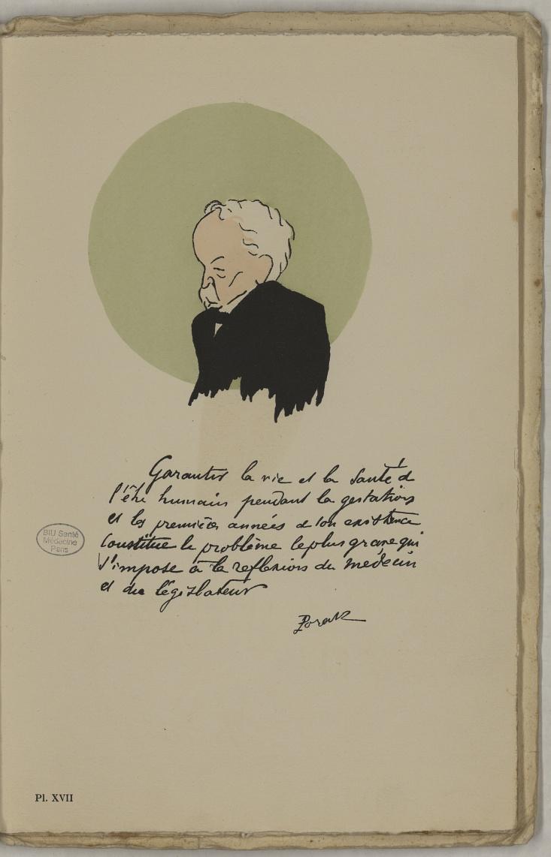 M. Porak (Ch.-A.) - L'Académie de médecine : album, 1re série - Médecins. Académie de médecine (Paris). Autographes. Caricatures. France. 20e siècle - med10947Bx01x11x0021