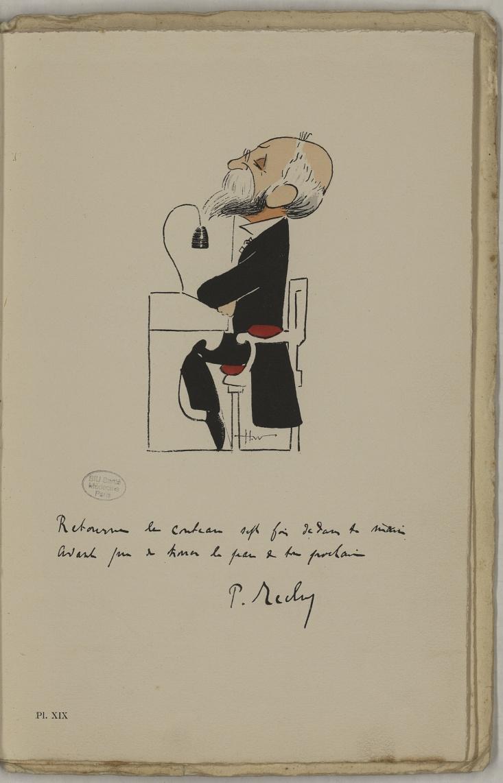 M. Reclus (Paul) - L'Académie de médecine : album, 1re série - Médecins. Académie de médecine (Paris). Autographes. Caricatures. France. 20e siècle - med10947Bx01x11x0023