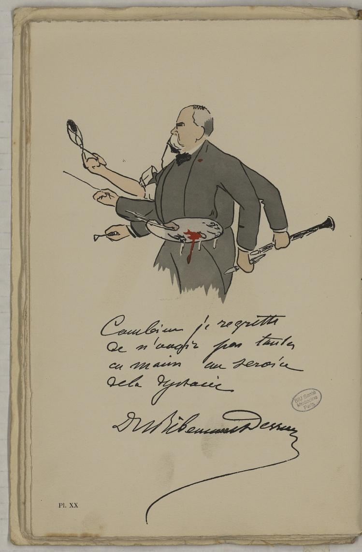 M. Ribemont-Dessaignes - L'Académie de médecine : album, 1re série - Médecins. Académie de médecine (Paris). Autographes. Caricatures. France. 20e siècle - med10947Bx01x11x0024