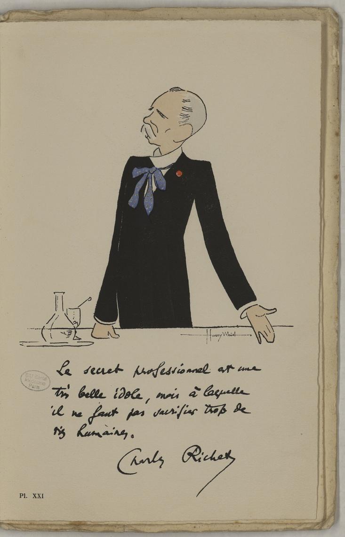 M. Richet (Charles) - L'Académie de médecine : album, 1re série - Médecins. Académie de médecine (Paris). Autographes. Caricatures. France. 20e siècle - med10947Bx01x11x0025