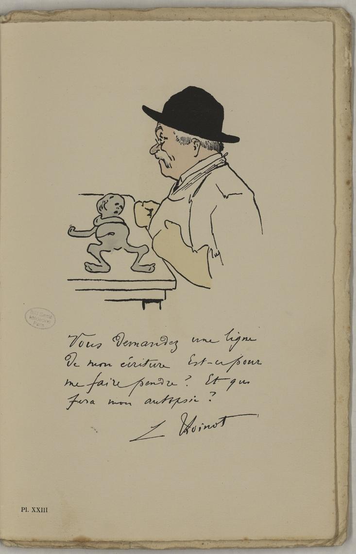 M. Thoinot - L'Académie de médecine : album, 1re série - Médecins. Académie de médecine (Paris). Autographes. Caricatures. France. 20e siècle - med10947Bx01x11x0027