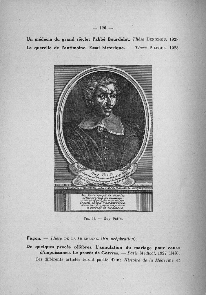 Fig. 33. Guy Patin - Exposé des titres et travaux scientifiques -  - med110133x167x07x0118
