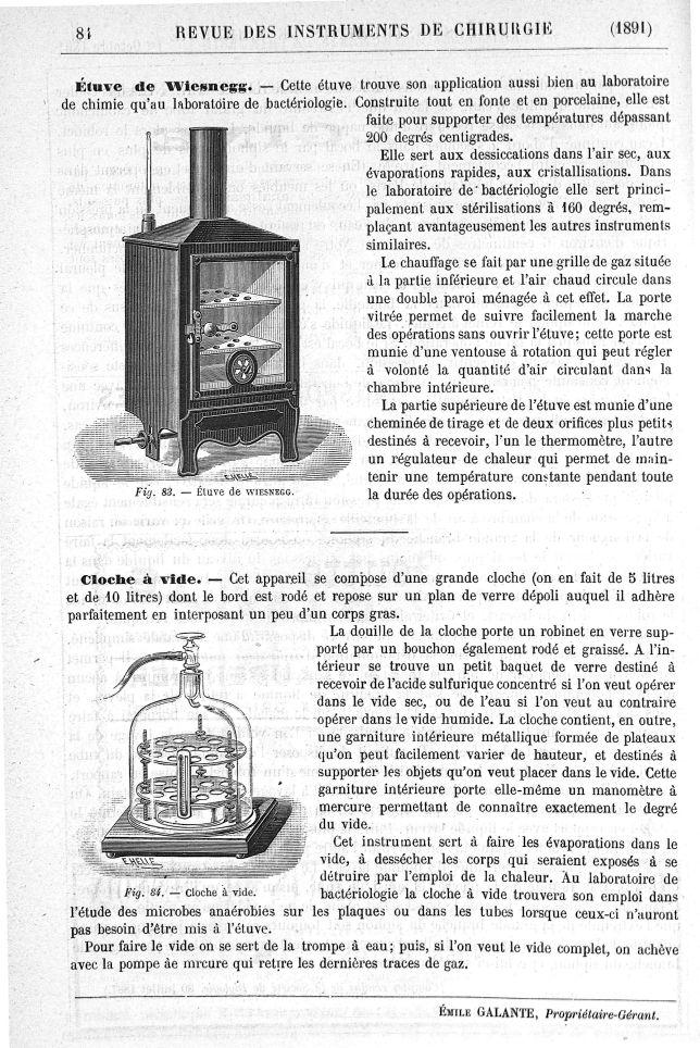 Fig. 83. Etuve de Wiesnegg/ Fig. 84. Cloche à vide -  - med110220x1891x0082