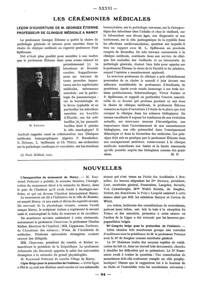 M. Étienne - Paris médical : la semaine du clinicien -  - med111502x1914_1915x16x0108