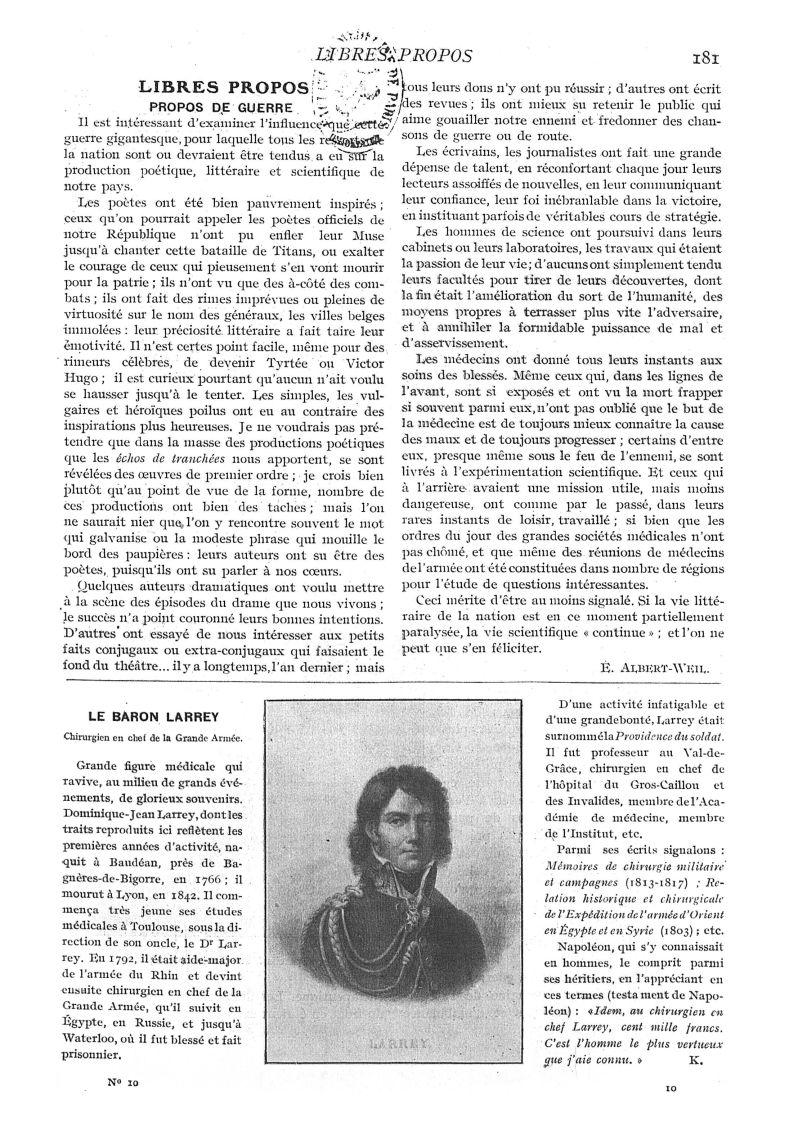 Larrey - Paris médical : la semaine du clinicien -  - med111502x1915x17x0185