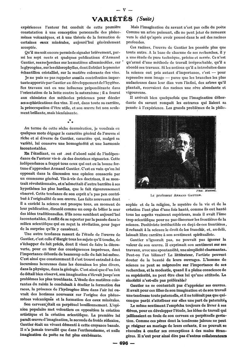 Le Professeur Armand Gautier - Paris médical : la semaine du clinicien -  - med111502x1920x38x0435