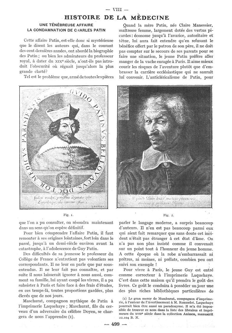 Fig. 1 / Fig. 2 Guy Patin - Paris médical : la semaine du clinicien -  - med111502x1930x78x0570