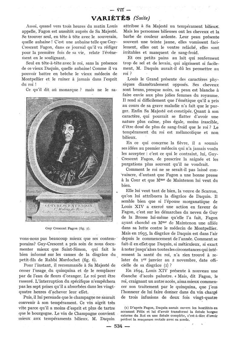 Fig. 5. - Guy Crescent Fagon - Paris médical : la semaine du clinicien -  - med111502x1932x84x0663