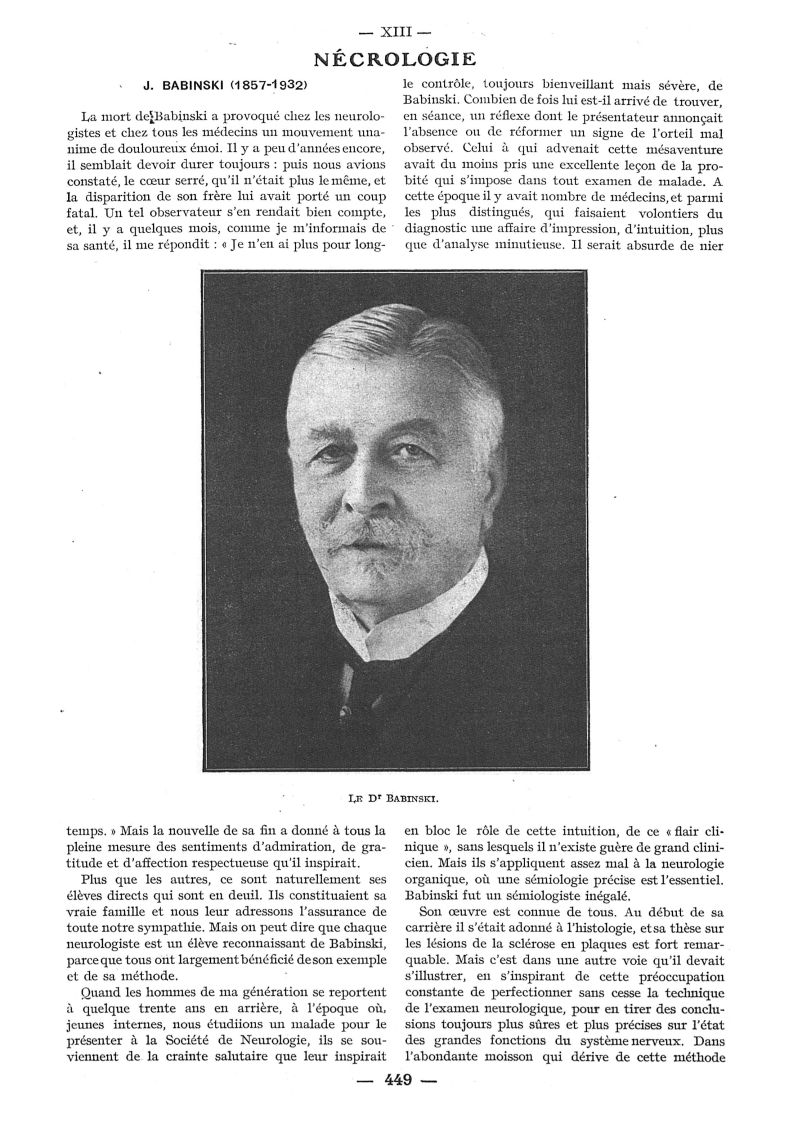 Le Dr Babinski -  - med111502x1932x86x0649