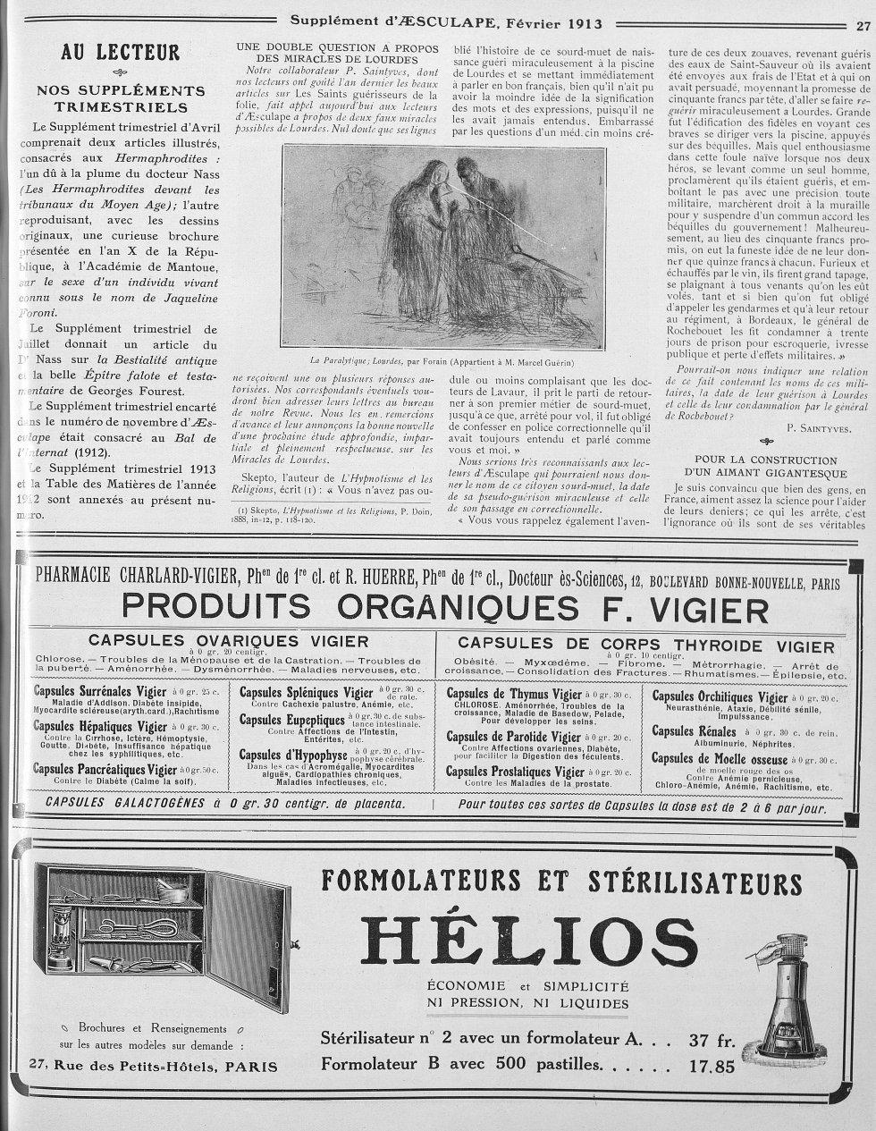 La Paralytique; Lourdes, par Forain (Appartient à M. Marcel Guérin)