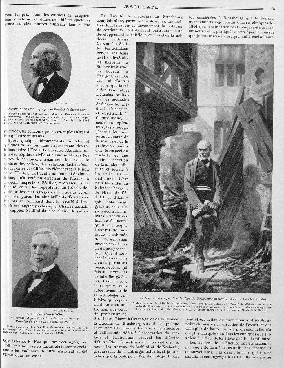 Koeberlé, en 1828, agrégé à la Faculté de Strasbourg / J. -A. Stoltz (1803-1896), Le dernier doyen d [...] -  - med111512x1913x0143