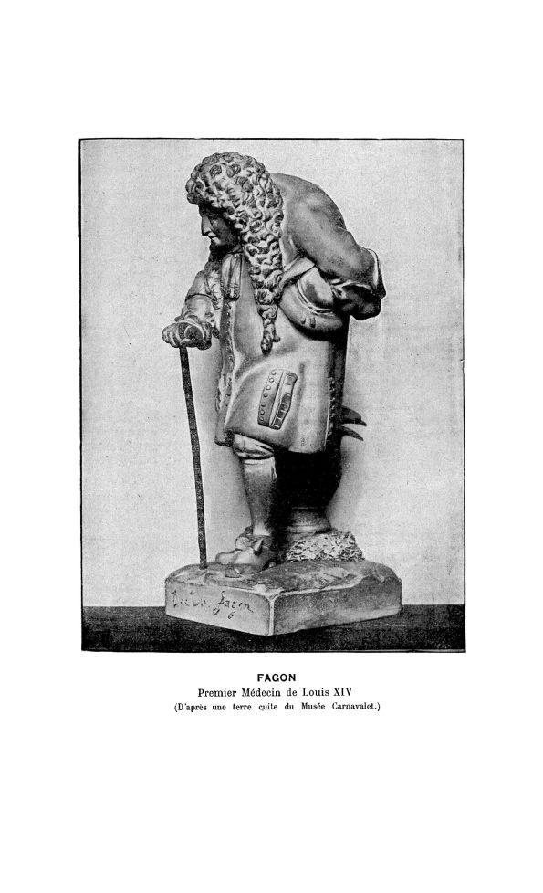 Fagon. Premier Médecin de Louis XIV (d'après une terre cuite du Musée Carnavalet) - La Chronique méd [...] - Médecins. 17e siècle - med130381x1901x08x0594