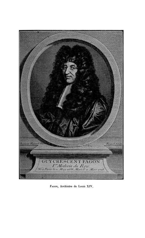 Guy Crescent Fagon, Archiatre de Louis XIV - La Chronique médicale : revue mensuelle de médecine his [...] - Médecins du roi. 17e siècle, 18e siècle - med130381x1920x27x0057