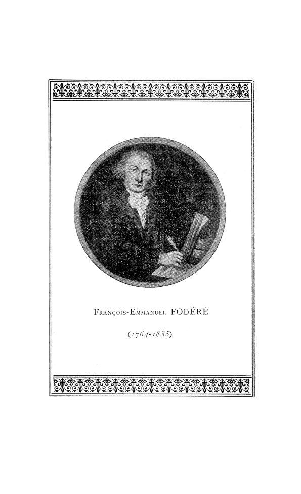 François-Emmanuel Fodéré (1764-1835) - La Chronique médicale : revue mensuelle de médecine historiqu [...] -  - med130381x1930x37x0252