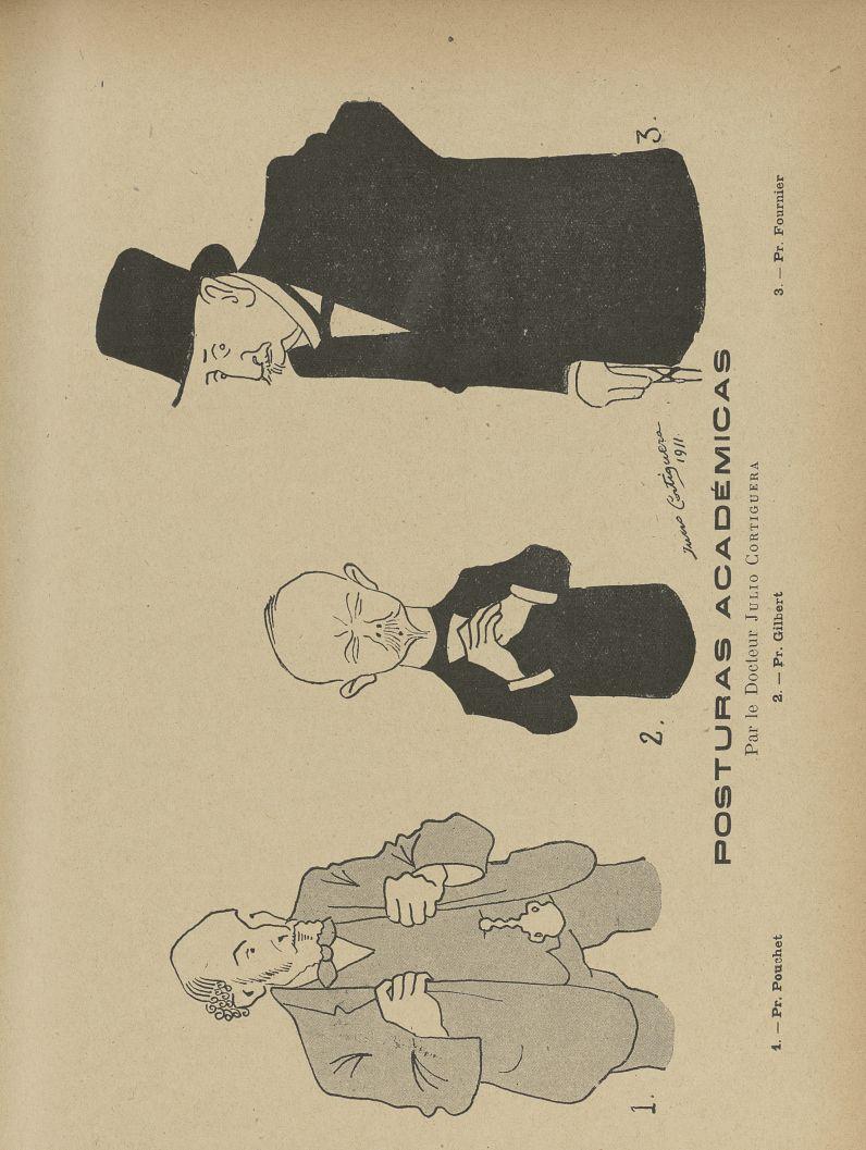 [Caricatures] : Pr. Pouchet, Pr. Gilbert, Pr. Fournier - L'Album du Rictus, journal humoristique men [...] -  - med24432x04x0031