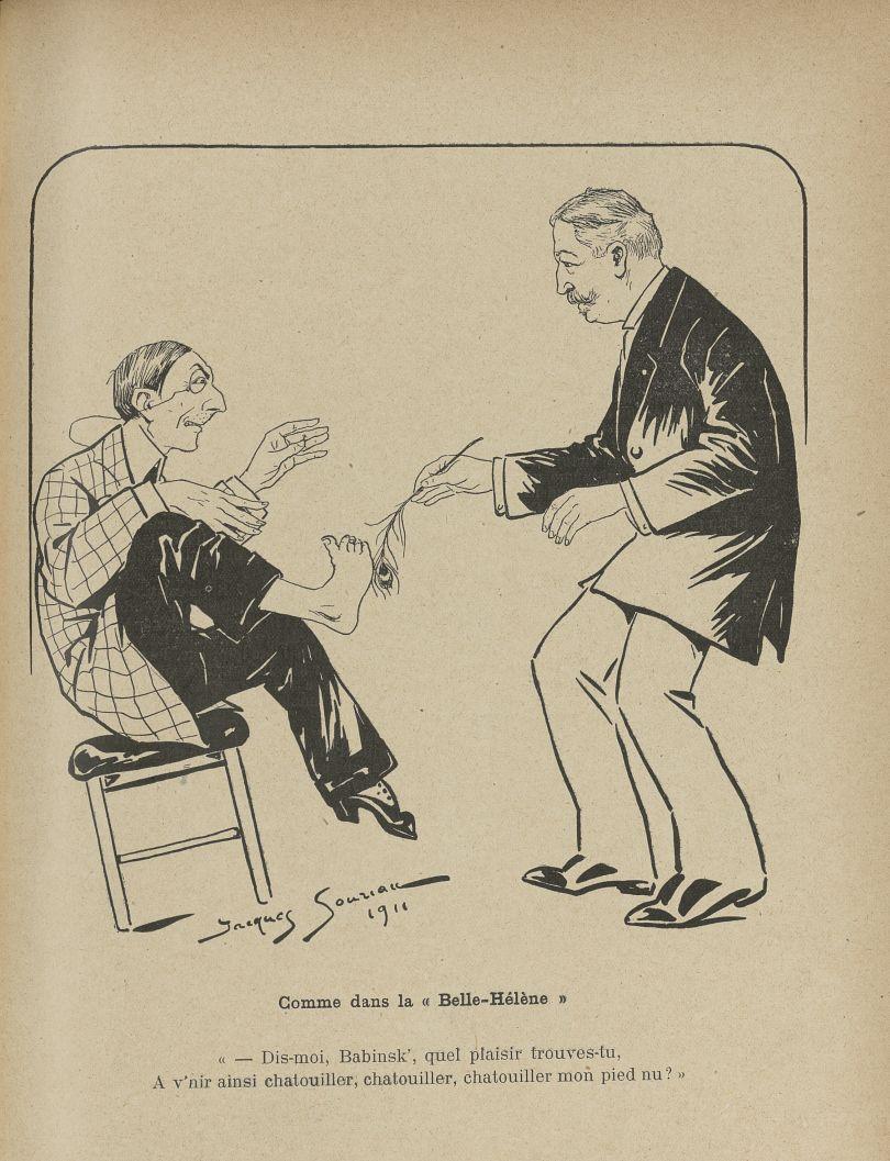 [Caricature : Docteur J. Babinski] - L'Album du Rictus, journal humoristique mensuel : tome IV -  - med24432x04x0033