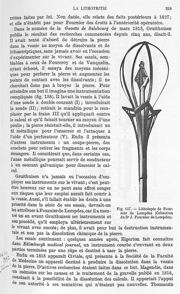 Fig. 157. Litholepte de Fournier de Lempdes (Collection du Dr J. Fournier de Lempdes). -  Encyclopéd [...] -  - med25657x01x0303