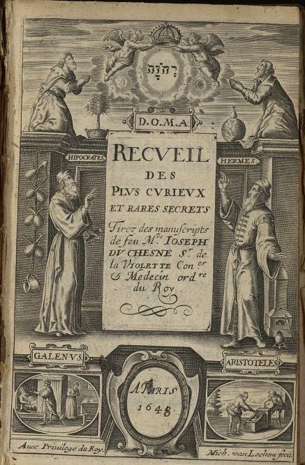 [Frontispice] - Recueil des plus curieux et rares secrets tirés des manuscrits de feu Mr Joseph Du C [...] -  - med38642x0005