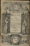 [Frontispice] - Recueil des plus curieux et rares secrets tirés des manuscrits de feu Mr Joseph Du C [...]