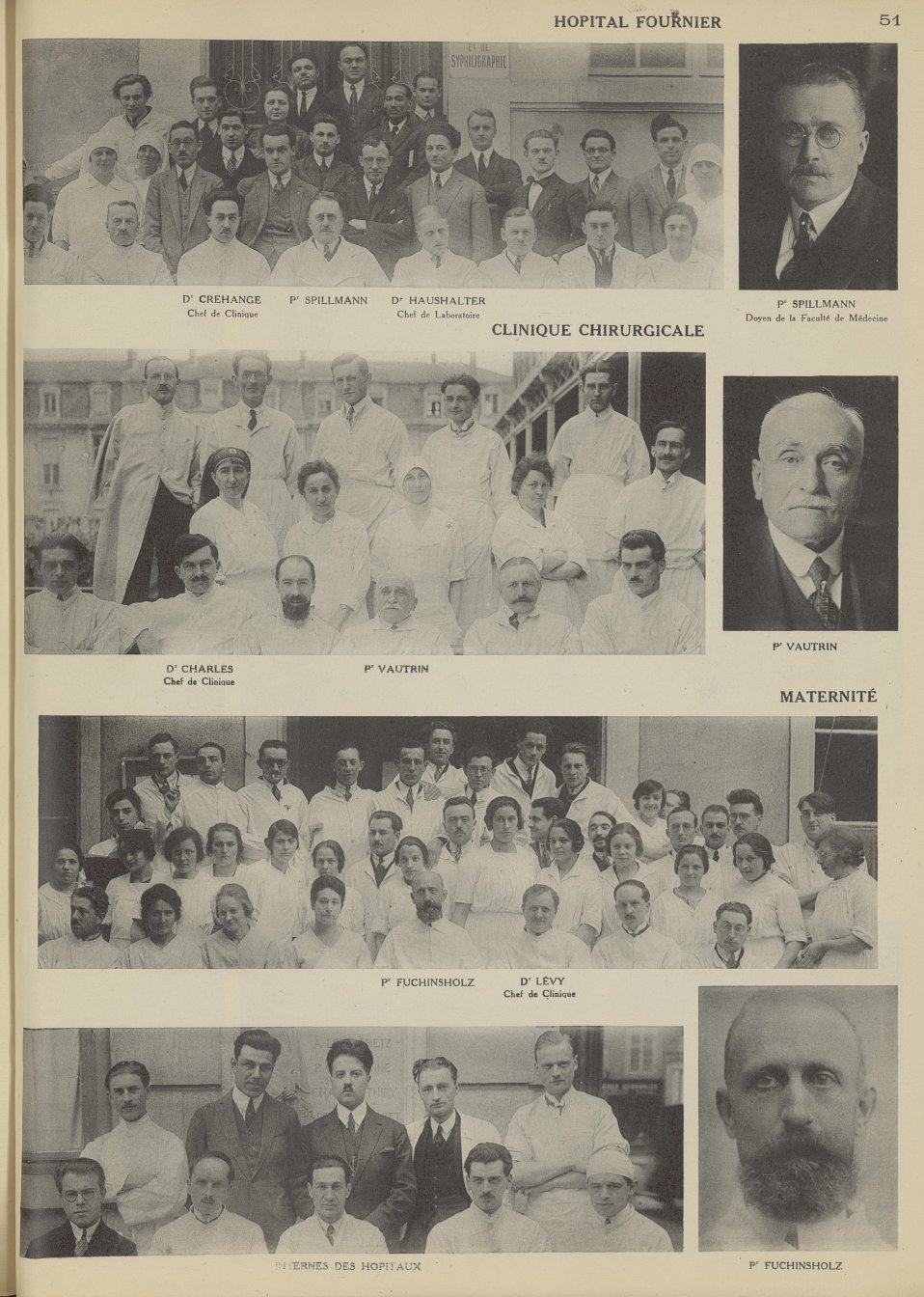 Hôpital Fournier: Dr Crehange, Pr Spillmann, Dr Haushalter / Clinique Chirurgicale: Dr Charles, Pr V [...] -  - med45_101x0089