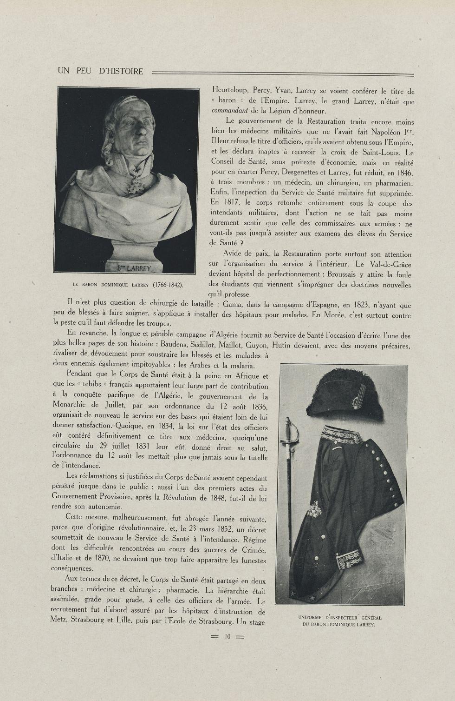 Le baron Dominique Larrey (1766-1842) / Uniforme d'inspecteur général du baron Dominique Larrey - Sc [...] - Médecine militaire (histoire). Médecins. France. 18e siècle. 19e siècle - med45_85x0030
