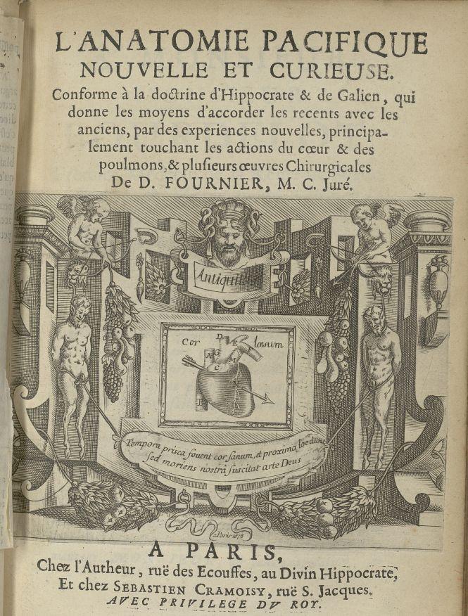 [Page de titre] - L'Oeconomie chirurgicale, pour le restablissement des parties molles du corps huma [...] - Ornements typographiques. Coeur. 17e siècle - med5207Ax0141