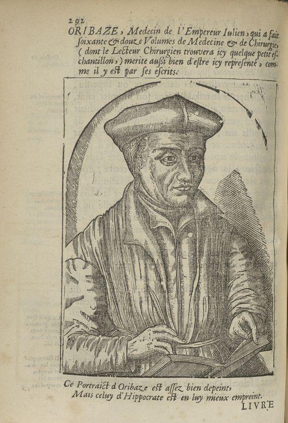 Oribaze, Medecin de l'Empereur Iulien - L'Oeconomie chirurgicale, pour le restablissement des partie [...] - Médecins. Atniqutié - med5207Ax0660