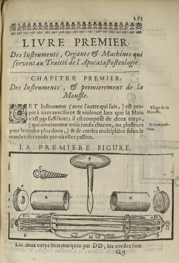 La premiere Figure [la mouffle] - L'Oeconomie chirurgicale, pour le restablissement des parties moll [...] - Appareils et instruments. 17e siècle - med5207Ax0661