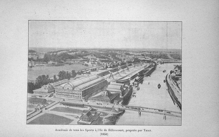 Académie de tous les Sports à l'île de Billancourt, projetée par Triat (1850) - Evolution de l'éduca [...] -  - med65254x0010
