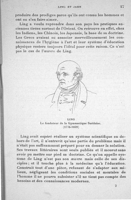 Ling. Le fondateur de la gymnastique Suédoise (1776-1839) - Evolution de l'éducation physique. L'Eco [...] -  - med65254x0017