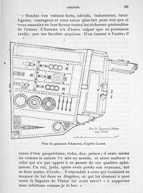 Plan du gymnase d'Amoros, d'après Laisné - Evolution de l'éducation physique. L'Ecole française -  - med65254x0089