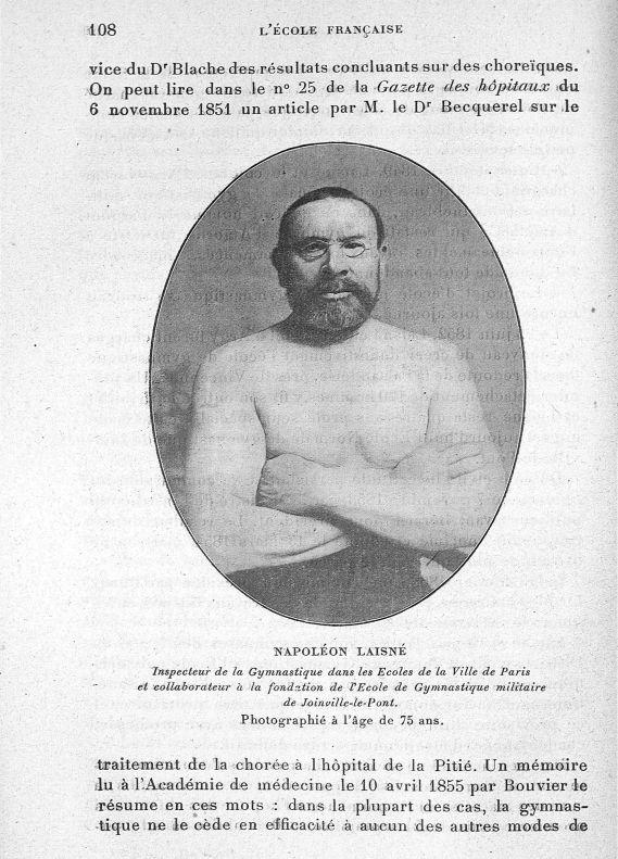 Napoléon Laisné. Inspecteur de la gymnastique dans les écoles de la ville de Paris et collaborateur  [...] -  - med65254x0108