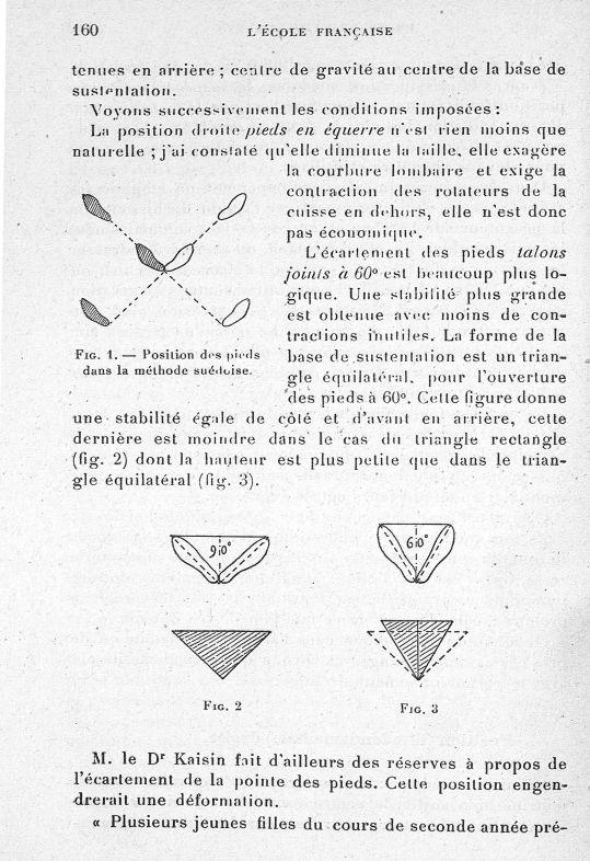 Fig. 1. Position des pieds dans la méthode suédoise / Fig. 2 / Fig. 3 - Evolution de l'éducation phy [...] -  - med65254x0160