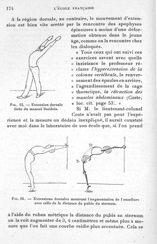 Fig. 15. Extension dorsale tirée du manuel Suédois/ Fig. 16. Extensions dorsales montrant l'augmenta [...] -  - med65254x0174