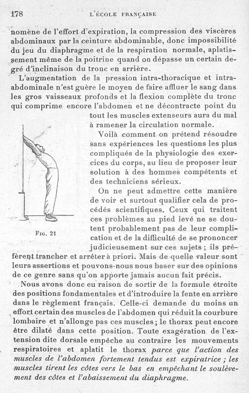 Fig. 21 - Evolution de l'éducation physique. L'Ecole française -  - med65254x0178