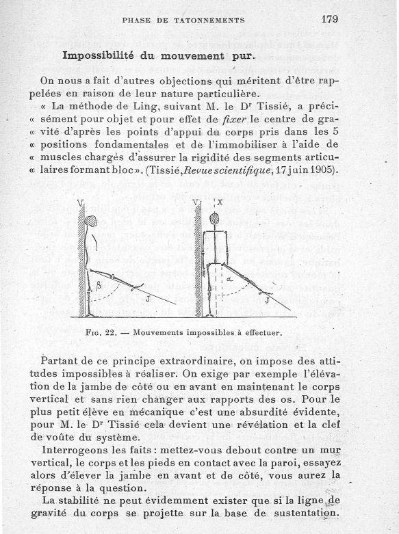 Fig. 22. Mouvements impossibles à effectuer - Evolution de l'éducation physique. L'Ecole française -  - med65254x0179