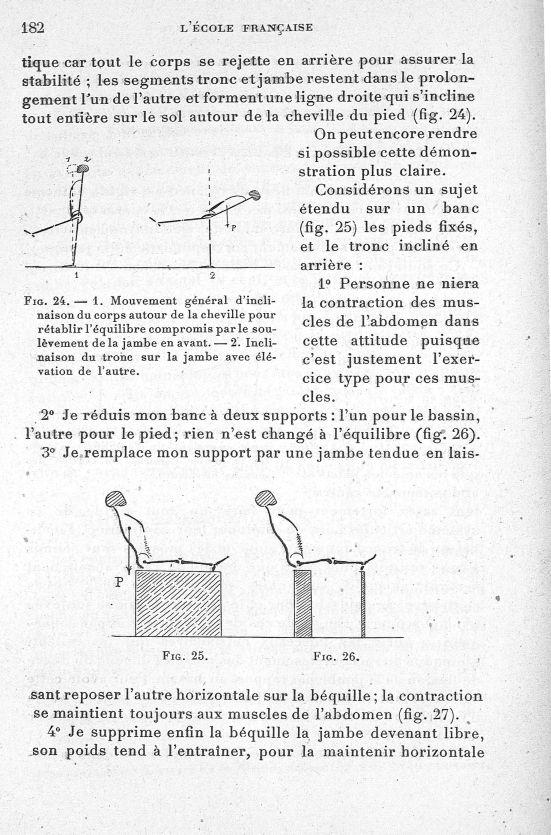 Fig. 24. 1. Mouvement général d'inclinaison du corps autour de la cheville pour rétablir compromis p [...] -  - med65254x0182