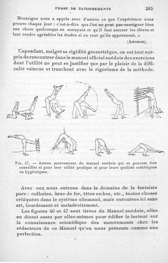 Fig. 47. Autres mouvements du manuel suédois qui ne peuvent être conseillés ni pour leur utilité pra [...] -  - med65254x0215