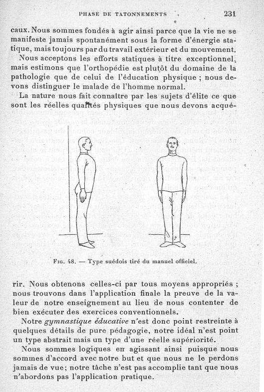 Fig. 48. type suédois tiré du manuel officiel - Evolution de l'éducation physique. L'Ecole française -  - med65254x0231