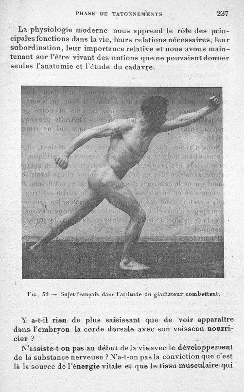Fig. 51. Sujet français dans l'attitude du gladiateur combattant - Evolution de l'éducation physique [...] -  - med65254x0237