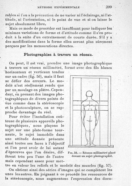 Fig. 56. Réseau millimétré placé devant un sujet photographié - Evolution de l'éducation physique. L [...] -  - med65254x0299