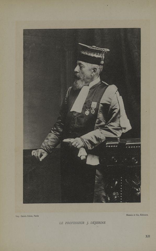 XII. Le Professeur J. Dejerine [Photographie] - Le professeur J. Dejerine 1849-1917 - Médecins. France. 19e siècle. 20e siècle - med68635x0171