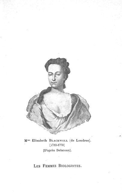 Mme Elisabeth Blackwell de Londres - Les femmes médecins, étude de psychologie sociale international [...] -  - med74197x0279